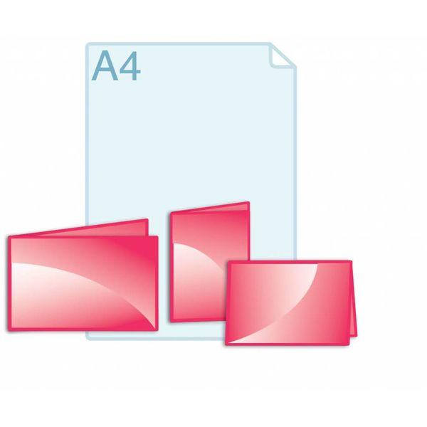 Folders eigen formaat kleiner dan een opengevouwen A5 formaat
