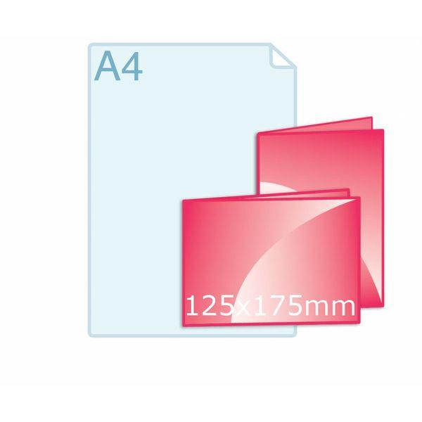 Gevouwen folder 125 x 175 mm