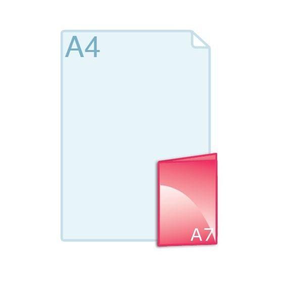 Gevouwen folder A7 (74 x 105 mm)
