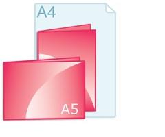 Gevouwen kaarten drukken A5 formaat