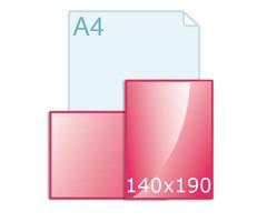Ansichtkaarten drukken 297 x 140 mm