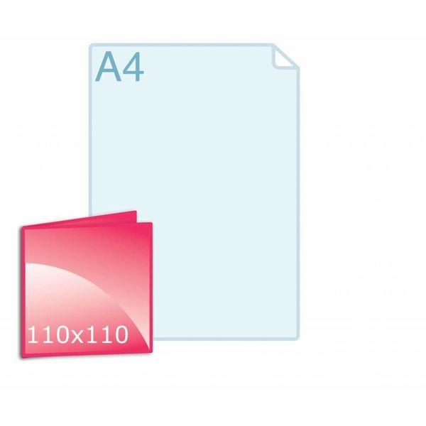Gevouwen kaart carré 110 x 110 mm