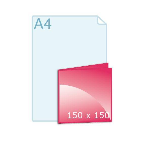 Gevouwen kaart carré 150 (150 x 150 mm)