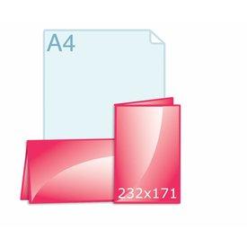 Gevouwen kaart 232 x 171 (116 x 171 mm) staand