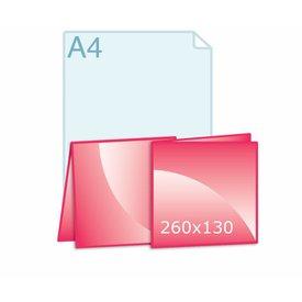 Gevouwen kaart carré 260 x 130 mm (130 x 130 mm)
