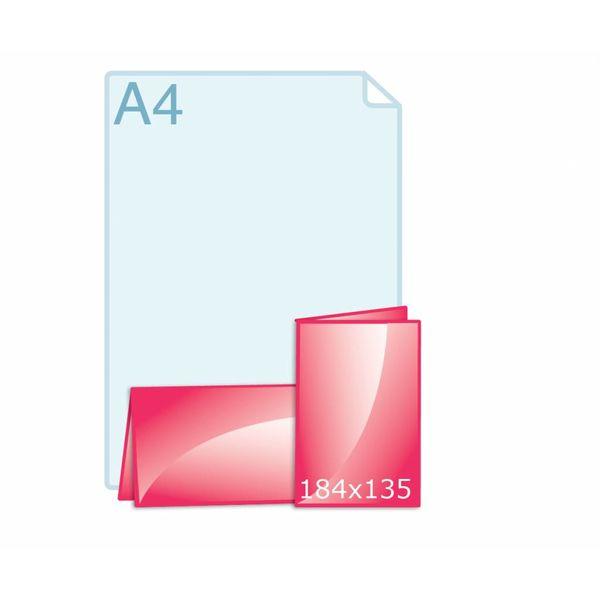 Gevouwen kaart 184 x 135 (92 x 135 mm) staand