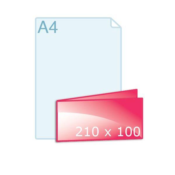 Gevouwen kaart 210 x 100 (210 x 100 mm)