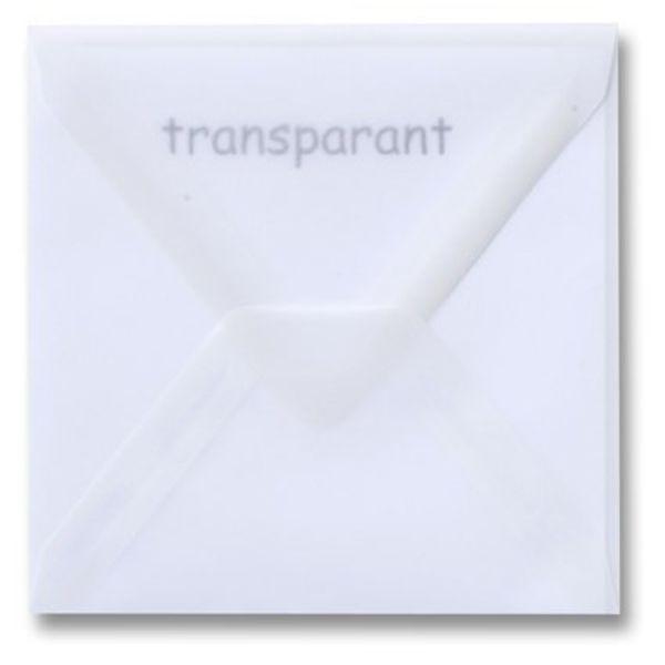 Transparante enveloppen wit