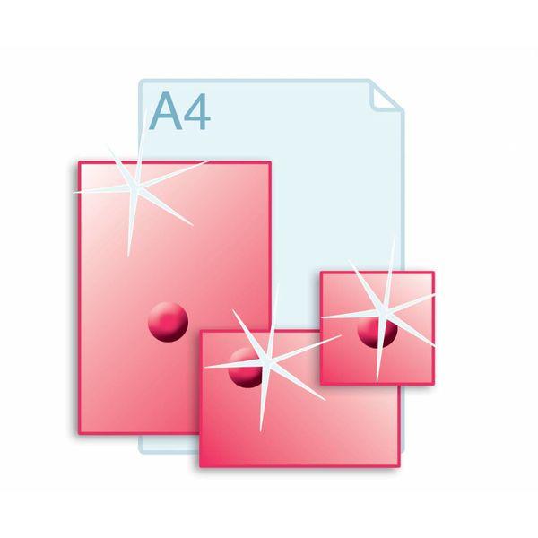 3D Touch Spotlak aanbrengen op enkele kaarten A4 (210 x 297 mm) of kleiner.