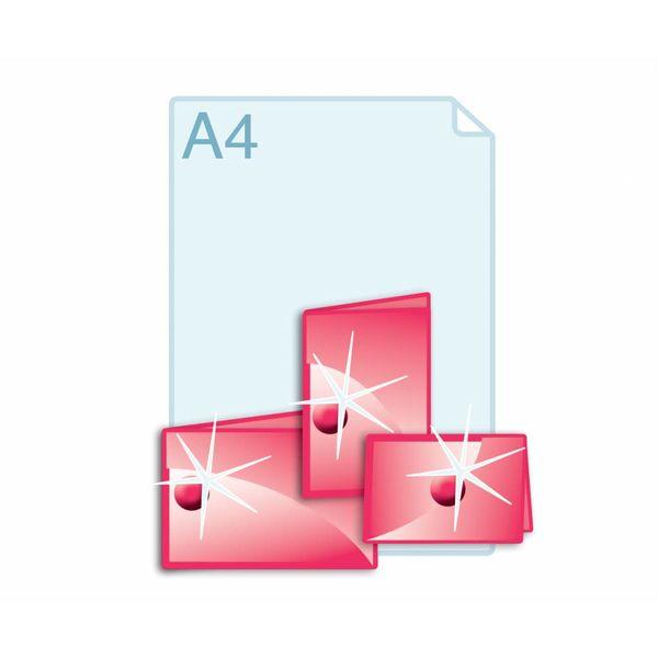 3D Touch Spotlak aanbrengen op gevouwen kaarten A5 (210 x 297 mm) of kleiner.