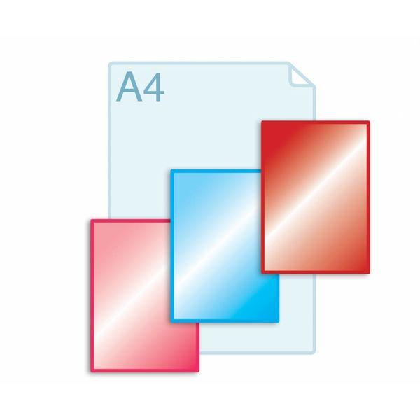 Laminaat aanbrengen op enkele kaarten A5 (148 x 210 mm) of kleiner.