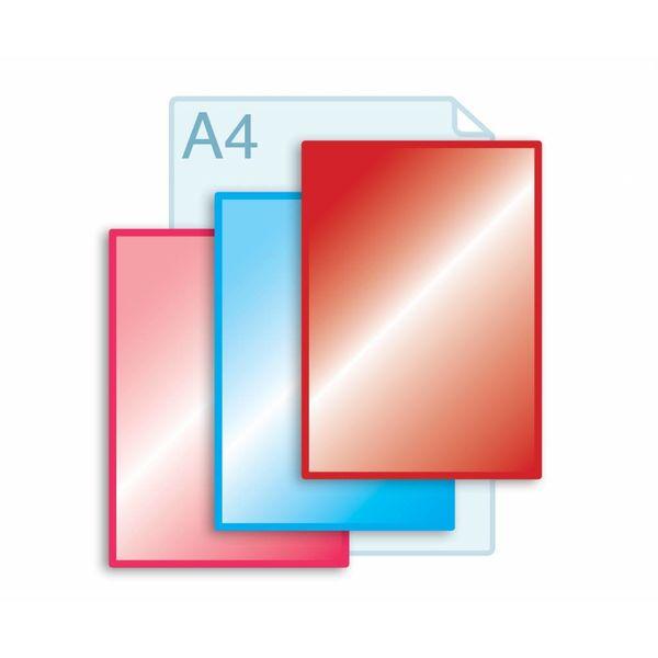 Laminaat aanbrengen op enkele kaarten A4 (210 x 297 mm) of kleiner.