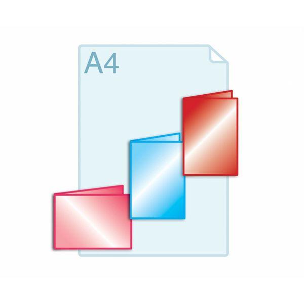 Laminaat aanbrengen op gevouwen drukwerk A6(105 x 148 mm) of kleiner.
