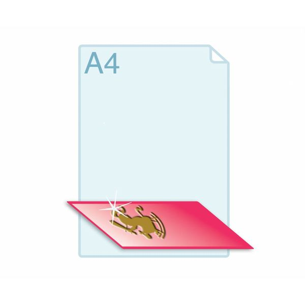 3D Touch Foliedruk aanbrengen op formaat A5 (148 x 210 mm) of kleiner