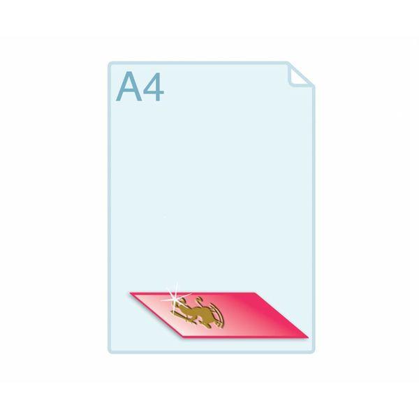 3D Touch Foliedruk aanbrengen op formaat A6 (105 x 148 mm) of kleiner