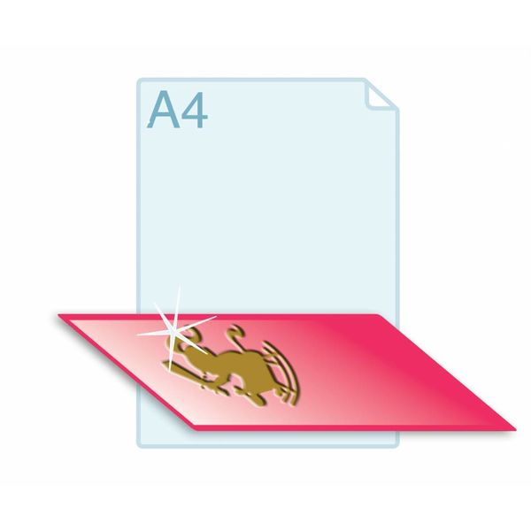 3D Touch Foliedruk aanbrengen op formaat A4 (210 x 297 mm) of kleiner