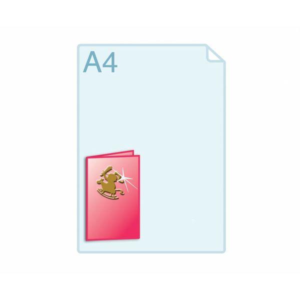 3D Touch Foliedruk aanbrengen op gevouwen A6 (148 x 210 mm) of kleiner