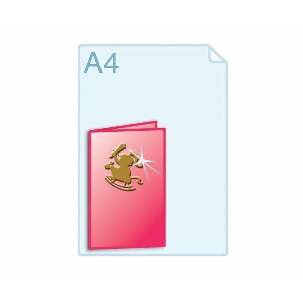 3D Touch Foliedruk aanbrengen op gevouwen A5 (296 x 210 mm) of kleiner