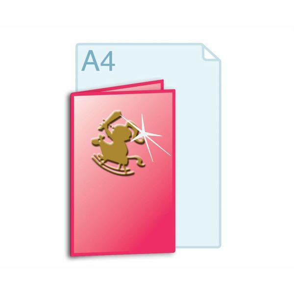 3D Touch Foliedruk aanbrengen op gevouwen A4 (420 x 297 mm) of kleiner