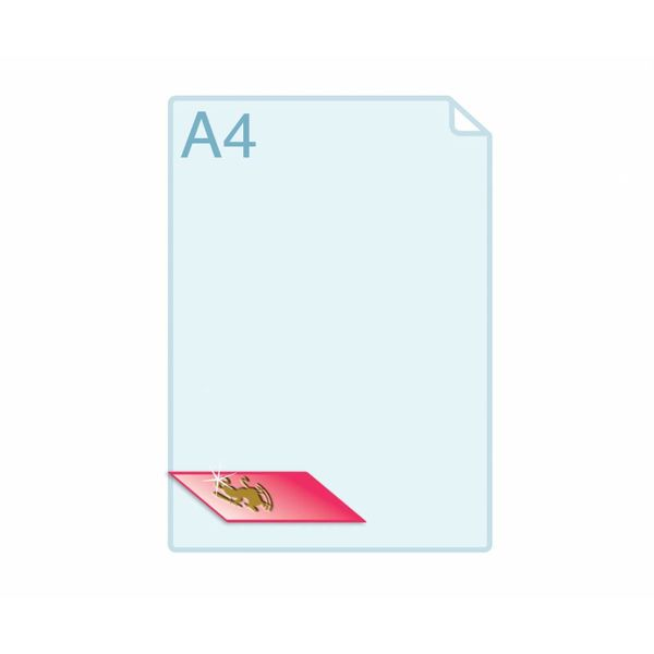 3D Touch Foliedruk aanbrengen op formaat A7 (74 x 105 mm) of kleiner  - Copy