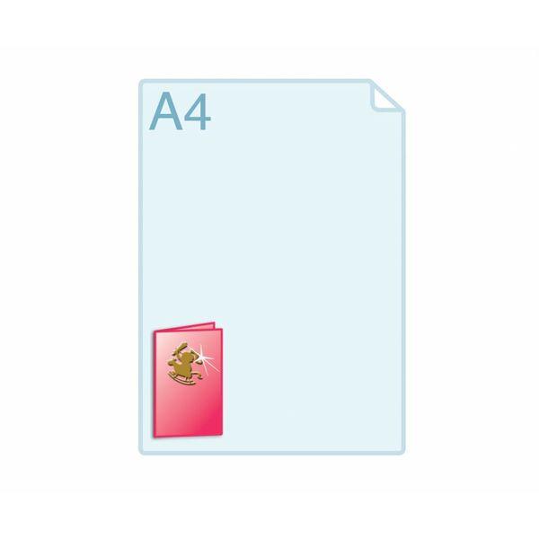 3D Touch Foliedruk aanbrengen op gevouwen A7 (105 x 148 mm) of kleiner