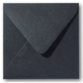 Bedrukte envelop carré 160 -Zwart