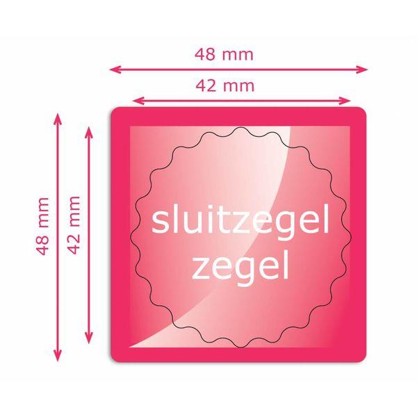 Sluitzegels 42 mm rond zegel