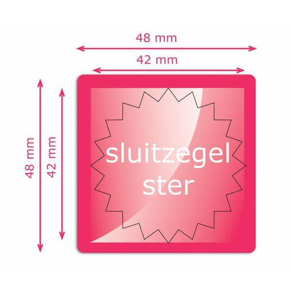 Sluitzegels 42 mm rond ster