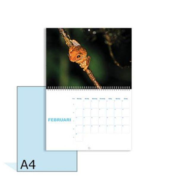 Omlegkalender A5 dubbelzijdig 17 bladen