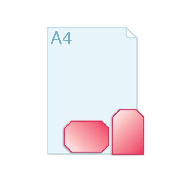 Enkele kaarten voorzien van schuine hoeken
