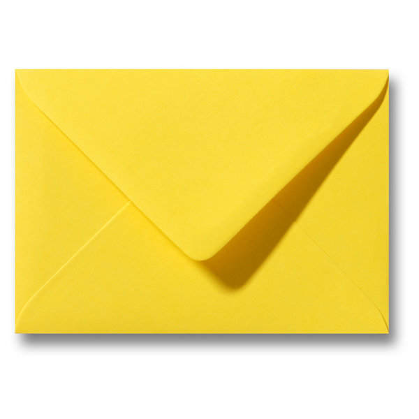 Blanco envelop 160 x 160 mm Geel