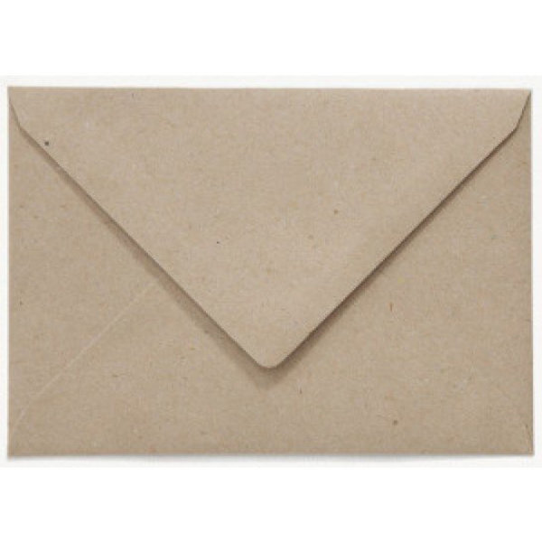 Blanco envelop 160 x 160 mm Grijskarton