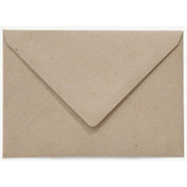 Blanco envelop 125 x 180 mm Grijskarton