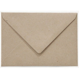 Blanco envelop 156 x 220 mm Grijskarton