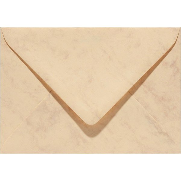 Blanco marmer envelop 110 x 220 mm Okergeel