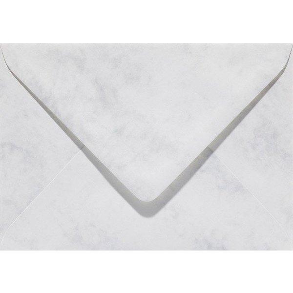Blanco marmer envelop 125 x 180 mm Grijswit