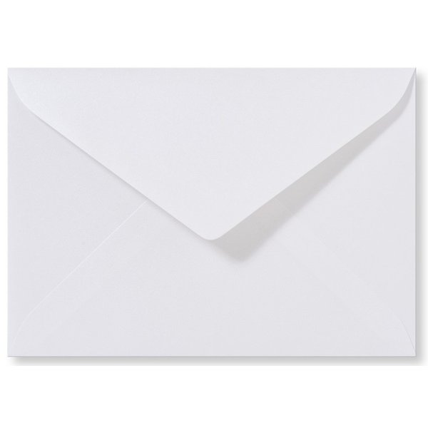 Blanco metallic envelop 114 x 162 mm Hoogwit