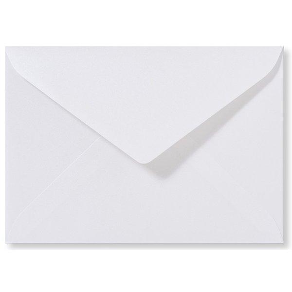 Blanco metallic envelop 140 x 140 mm Hoogwit