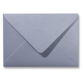 Blanco metallic envelop 114 x 162 mm Zilver