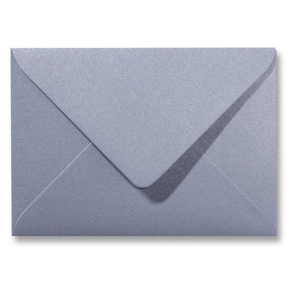 Blanco metallic envelop 140 x 140 mm Zilver