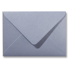 Blanco metallic envelop 160 x 160 mm Zilver