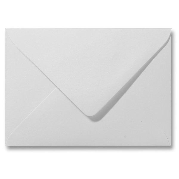 Blanco metallic envelop 160 x 160 mm Parelmoer