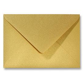 Blanco metallic envelop 160 x 160 mm Goud