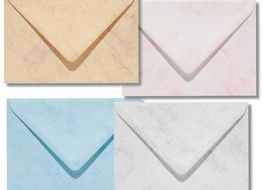 Blanco marmer enveloppen