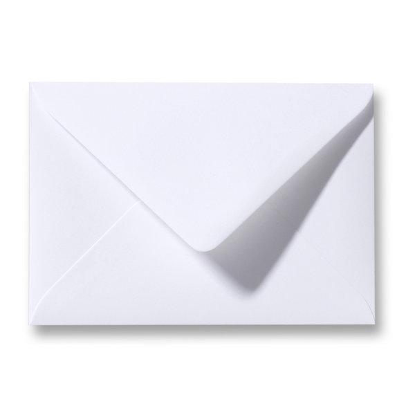 Bedrukte envelop 140 x 140 mm Wit