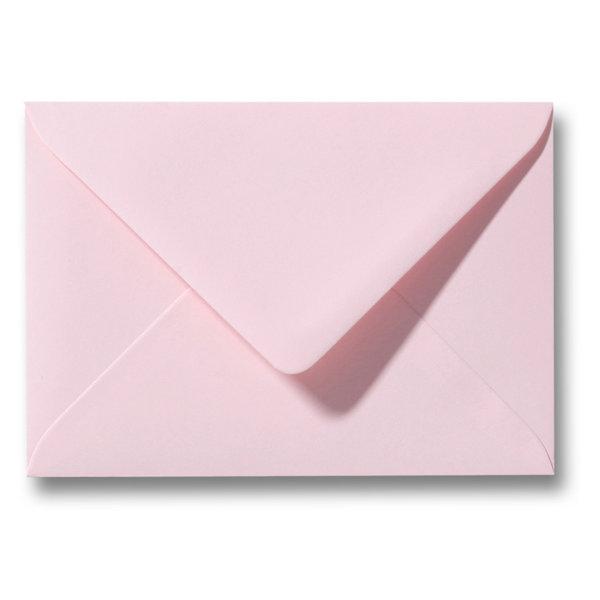 Bedrukte envelop 140 x 140 mm Lichtroze