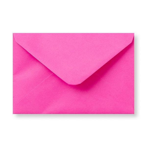 Bedrukte envelop 140 x 140 mm Fuchsia