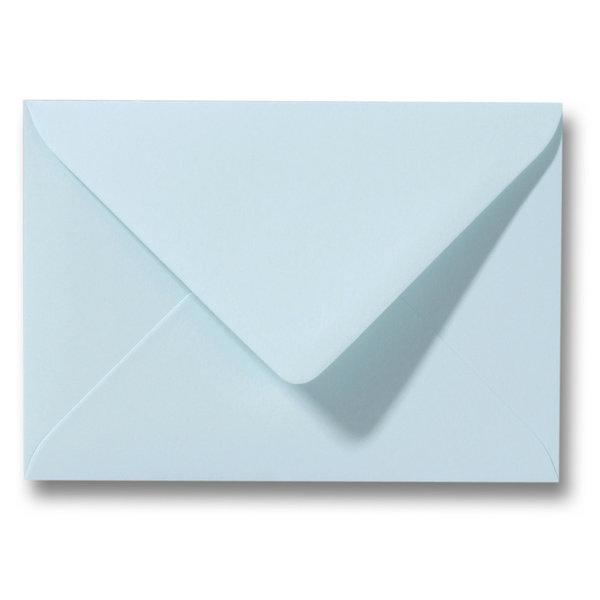Bedrukte envelop 140 x 140 mm Lichtblauw