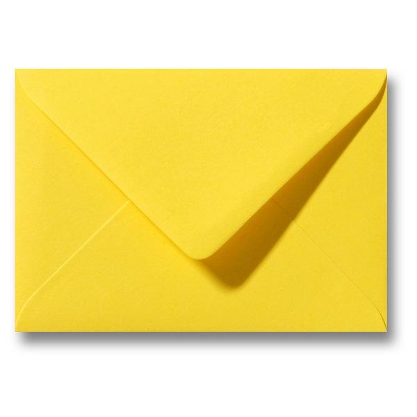 Bedrukte envelop 140 x 140 mm Geel