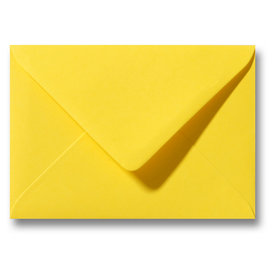 Bedrukte envelop 160 x 160 mm Geel